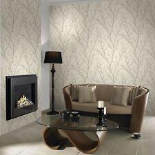 Boutique Ivory Water Silk Sprig Wallpaper