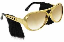 Adult 50s Rock n Roll Elvis Sunglasses Shades Sideburns Fancy Dress Accessory
