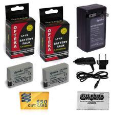 Batteries Avec Canon pour appareil photo et caméscope avec chargeur
