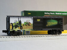 LIONEL JOHN DEERE TRAIN BOXCAR O GAUGE tractor freight made USA car 6-83944 NEW