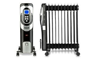 Oil Filled Radiator Portable  Digital Electric Heater Powerful 11 Fins -2400W