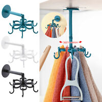 Kitchen Gadget Accessories Bathroom Hook Wall-Mounted 360 Degree Rotating Holde