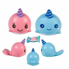 Kawaii Squishy Cartoon Mini Whale Soft Pink Scent Squeeze Very Slow Rising Toy
