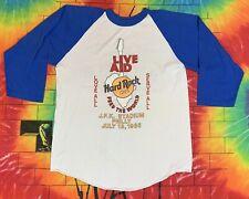 RARE Vintage 1985 Live Aid Hard Rock Cafe Concert Tour Shirt Single Stitch Large