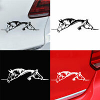 KE_ Double Horse Car-Styling Vehicle Body Window Reflective Decals Sticker Dec