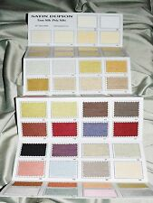 Faux Silk Dupioni Colors Shade Card, With 54 Real Fabric Swatches by Zappy Cart.