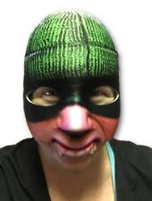 Cat Burglar Half Face Mask Bank Robber Adult Funny Halloween Costume Accessory