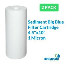 "2-PACK of Big Blue 10""x4.5"" 1 Micron Sediment Water Filters"