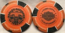 Harley-Davidson® of Yuba City, CA Collector Poker Chip Orange/Black NEW
