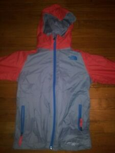 Northface Jacket Boys Size Small 7/8 Blue, Red, Gray