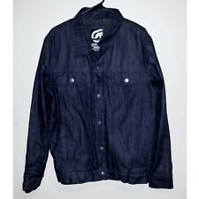 NEW! Mens Size US Medium Insulated Denim Coat by Ecko Unltd. 100% Cotton Jacket