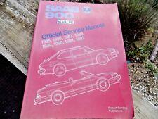 SAAB 900 16 Valve OFFICIAL SERVICE MANUAL 1985-1992 Bentley Publ OEM PB RARE