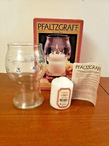 """Pfaltzgraff Bonnie Brae 8"""" Glass Pillar Floating Candle Holder - Retired - NIB"""