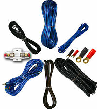 8 Gauge Amplfier Power Kit for Amp Install Wiring Complete RCA Cable BLUE 1500W