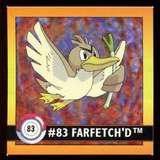 POKEMON STICKER ENGLISH CARD 50X50 1998 NORMAL N°   83 FARFETch'D CANARTICHO