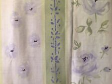 """FLORAL  STRIPED 72"""" FABRIC SHOWER CURTAIN"""
