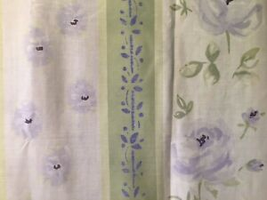 "FLORAL  STRIPED 72"" FABRIC SHOWER CURTAIN"