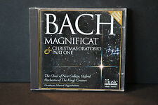CD -BACH MAGNIFICAT - CHRISTMAS ORATORIO PART ONE - HIGGINBOTTOM - MUSIC MAGASIN