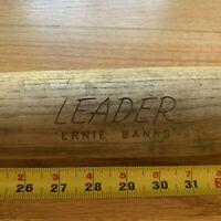 """VINTAGE ERNIE BANKS """"Mr. Cubs"""" LEADER WOOD BASEBALL BAT HILLERICH & BRADSBY 34"""""""