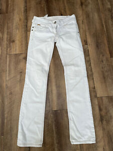 RIVER ISLAND White Straight Leg Jeans - Size 8L