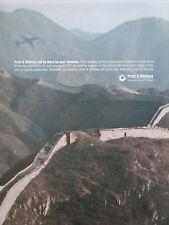 3/2004 PUB PRATT & WHITNEY MURAILLE DE CHINE CHINA ETOPS ENGINE ORIGINAL AD