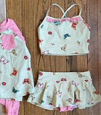 New ListingGuc Hanna Andersson Girls Butterfly Swim Set, fits 7-8