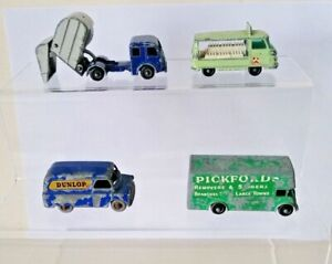 Lesney 1960's Comercial  vehicles; 15 Tippax, 21 Commer, 25 Bedford & 46 Guy
