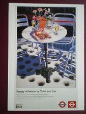 POSTCARD LTM 628 LONDON TRANSPORT 1998 SIMPLY ALFRESCO BY TUBE & BUS