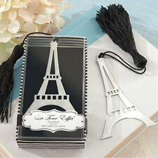 Elegant Eiffel Tower Bookmarks With Tassel Metal Bookmark Stationery Wedding