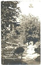 RPPC Marsh's Japanese Tea Garden on Coronado Beach CA 1915 Expo Cancel
