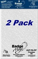 2 Pack - Badge Magic Patch Attach Fabric Adhesive Bond Scouting Military Patches