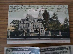 ANTIQUE ARGENTINA ESCUELA NAVAL NAVY NAVAL ACADEMY POSTCARD ROSAUER 1907 BK13