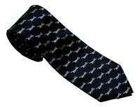 Concorde Air plane Aeroplane passenger plane On Blue Neck Tie Plane Lovers Gift