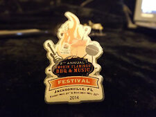 2nd annual smokin flamingo bbq and music festival 2014 pin