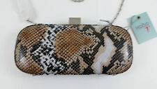 HOBO MN17001 PRUDENCE GLAMOUR SNAKE CLUTCH LEATHER MSRP $178