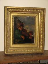Peinture Hollandaise, Musicien, époque 18ème siècle.