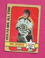 1972-73 OPC # 230 BRUINS PHIL ESPOSITO AS  HIGH # GOOD CARD (INV# C2195)