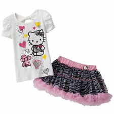 Hello Kitty Poodle Tee & Zebra Scooter Set - Size 5 NWT Girls
