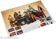Poster Opel Corsa Werbekampagne Beilage aus Opel Magazin Start 76x52 cm Auto PKW