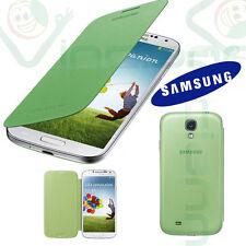 2X PELLICOLA+Custodia originale Samsung per Galaxy S4 SIV i9505 Flip Cover VERDE