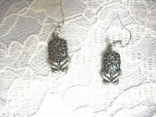 PUERTO RICO TAINO ATABEY CAGUANA FERTILITY GODDESS FRESH WATER PEWTER EARRINGS