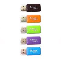 10 USB 2.0 lettore schede memoria Micro TF Card Reader SD SDHC Mini adattatore