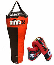 MADX Pro 4ft UNFILLED Uppercut punch bag, gloves, mitts, boxing, martial arts