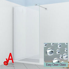 800/900/1000/1100/1200 Walk in Shower Screen Enclosure Fixed Panel Frameless 1000mm X 1950mm