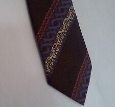 retro vintage tie neck tie jacquard fabric AUSTICO purple pink brown cream '70s
