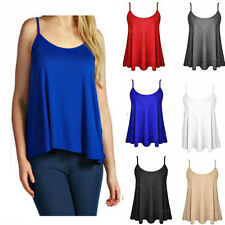 2017Sexy Women Summer Sleeveless Plain T-Shirt Swing Vest Tank Tops Strappy Cami