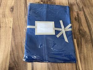 "New WILLIAMS SONOMA Blue Linen Hemstitch Tablecloth 70""x70"" NWT"
