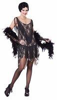 Womens Roaring 20's Great Gatsby Flapper Girl Halloween Costume Fringe Dress Set