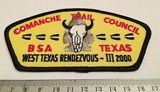 Comanche Trail Council TA3 West Texas Rendezvous 2000 CSP Boy Scouts of America