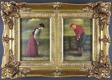 Ancien Tableau Peinture Antique Painting Old Vintage